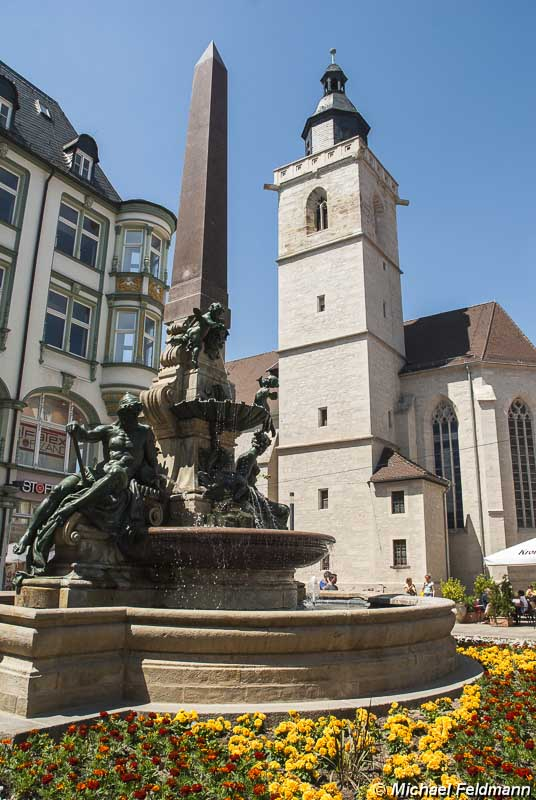 Angerbrunnen und wigbertikirche in erfurt - Feldmann gartenbau ...